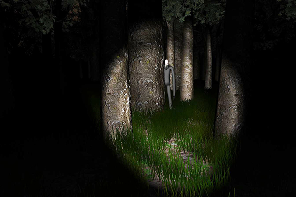 Slender Man in Woods