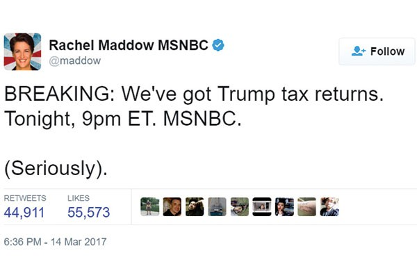 Media Displays Frenzied Yearning for a Trump Tax Return Silver Bullet