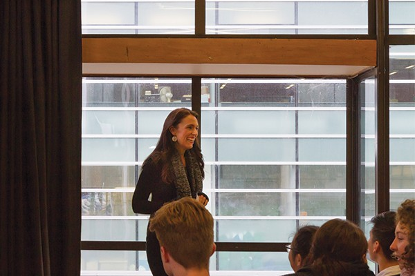 Jacinda Ardern Speaks to Crowd of 120 on Otago Campus Visit