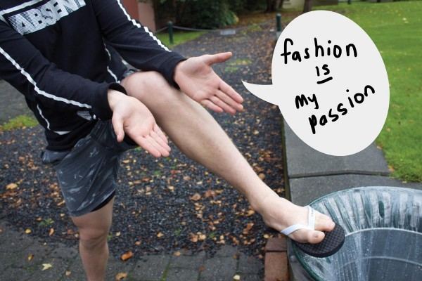 Hyde Street Lad Revamps Wardrobe by Adding Second Pair of Jandals