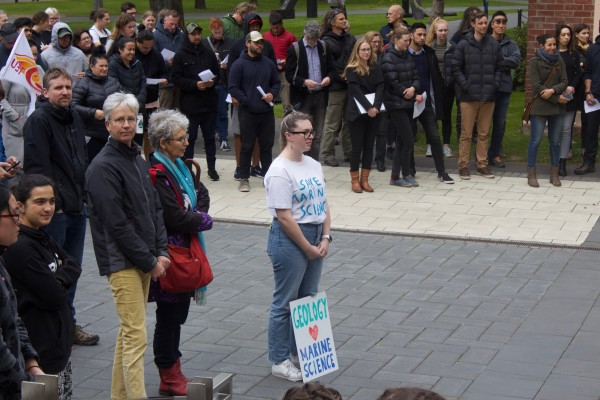 250 Students and Staff Rally Against Marine Science Cuts